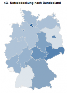 LTE-Karte der Bundesländer