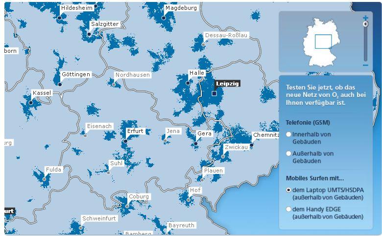 3G-Karte von o2 - UMTS und HSDPA