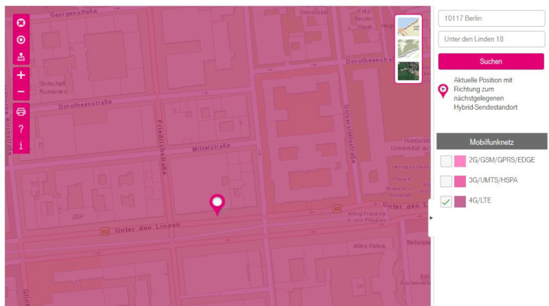 Lte Netzabdeckung Karte.Lte Verfugbarkeitskarte Der Deutschen Telekom Zeigt