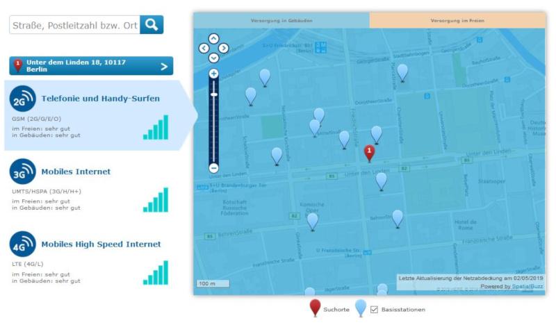 LTE-Verfügbarkeitskarte-o2